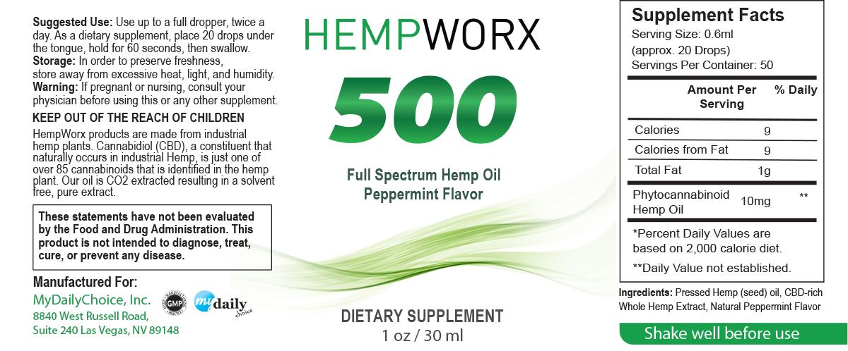 hempworx cbd oil ingredients